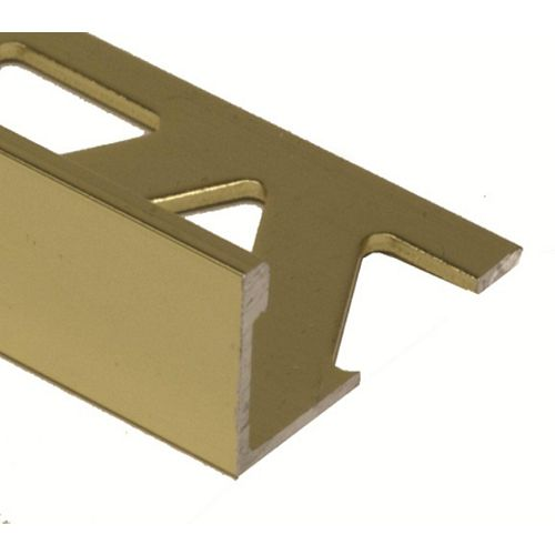PROVA 3/8 inch (10Mm) Tile Edge - 8Ft - Brght Brass - 10 Pcs.