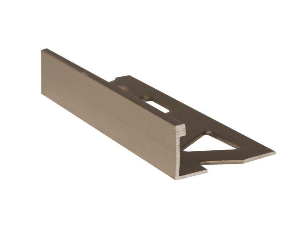 Bordures En Aluminium Pour Carreaux 1/2 Pouce(12MM) - 8 Pied -Titane Satiné - Paquet de 10