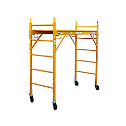 Fortress Industries Llc 6 ft. x 6 ft. x 29-inch Rolling Drywall Scaffold Unit 1000 lb. Load Capacity