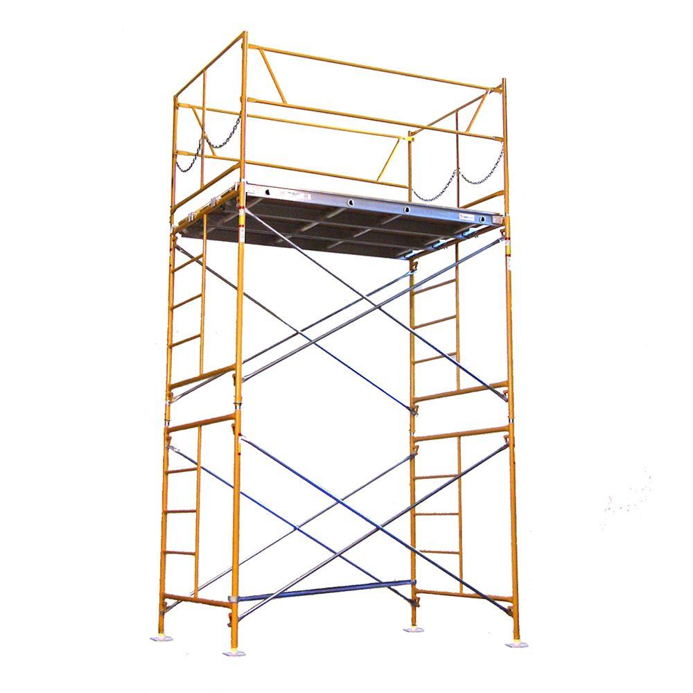 Tour déchafaudage avec plaques de base, 10 x 7 x 5pi