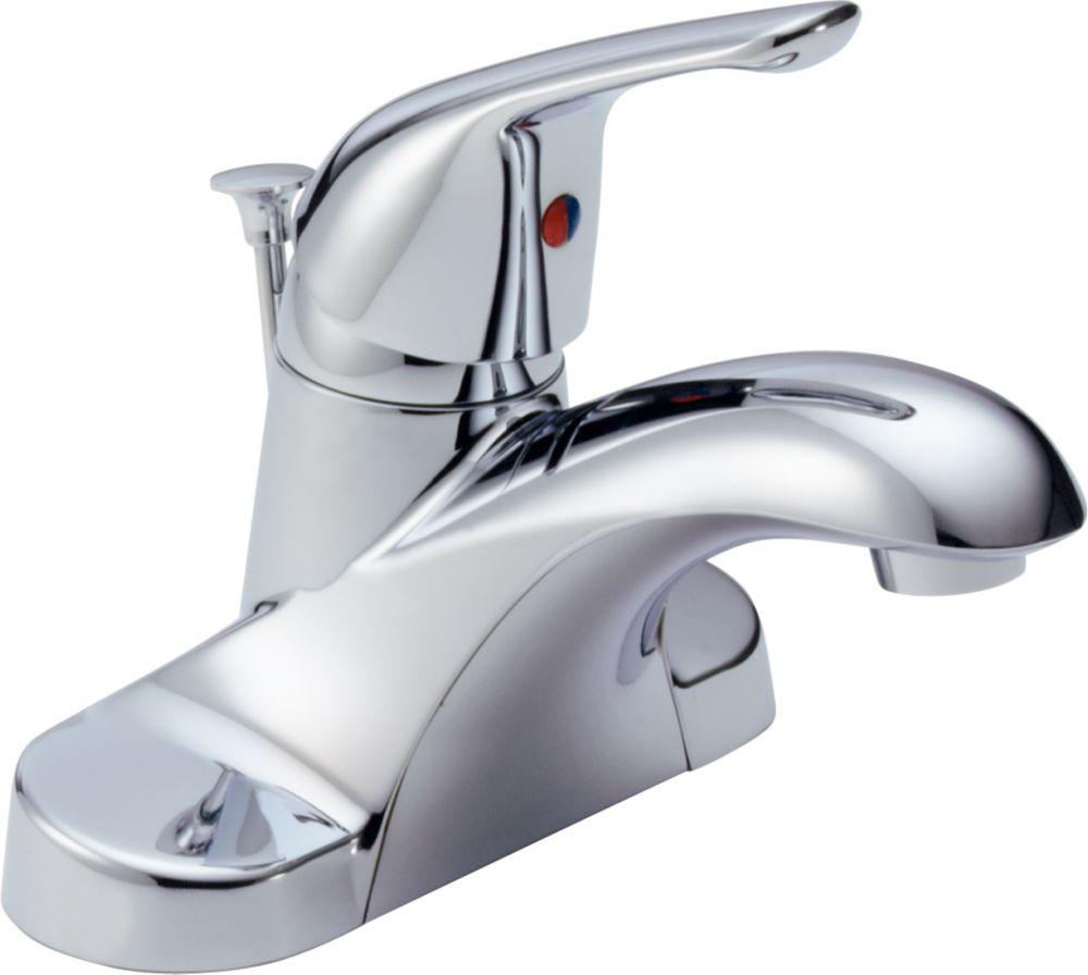 Foundations - Mitigeur à arche basse de 10,2 cm (4po) pour la salle de bains, Chrome