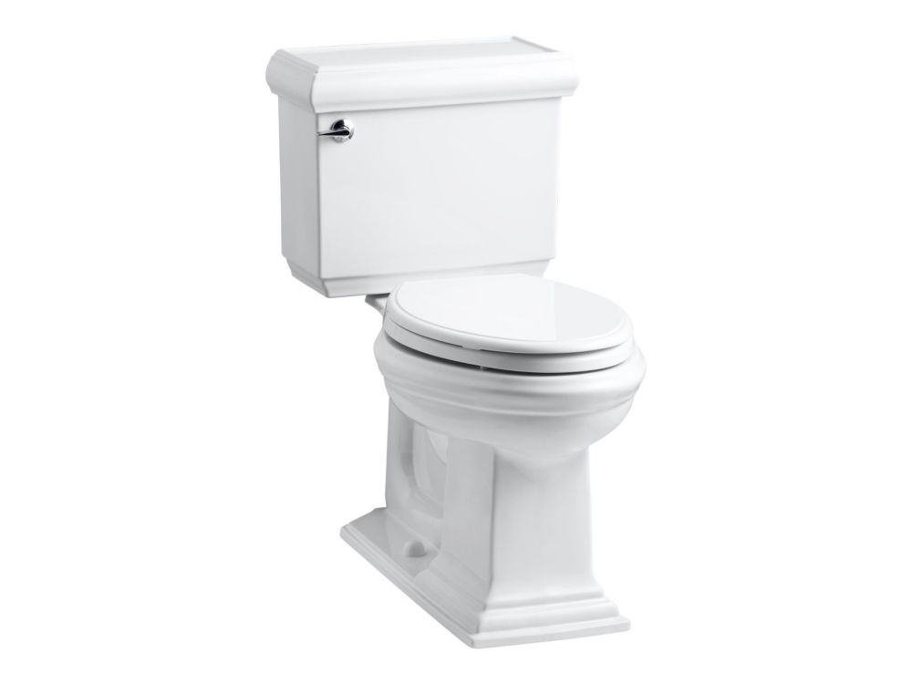 Toilette allongé Deux Pièces Memoirs Classic Comfort Height 1.28 Gal. Complete Solution en blanc