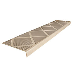 Composigrip Composite Anti-Slip Stair Tread 48 inch Beige Step Cover