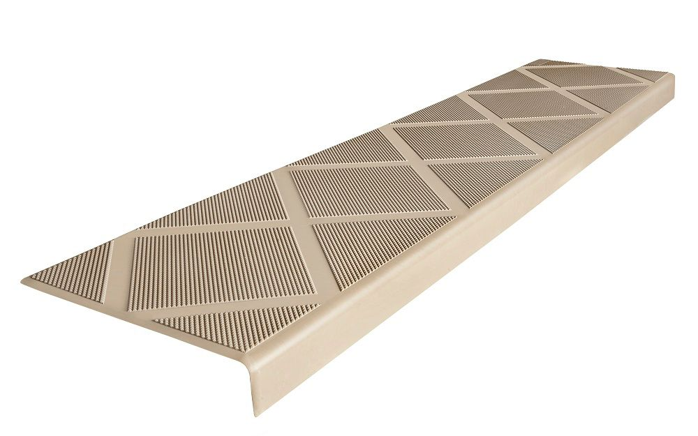 Composite Anti Slip Stair Tread 48 Inch Beige Step Cover