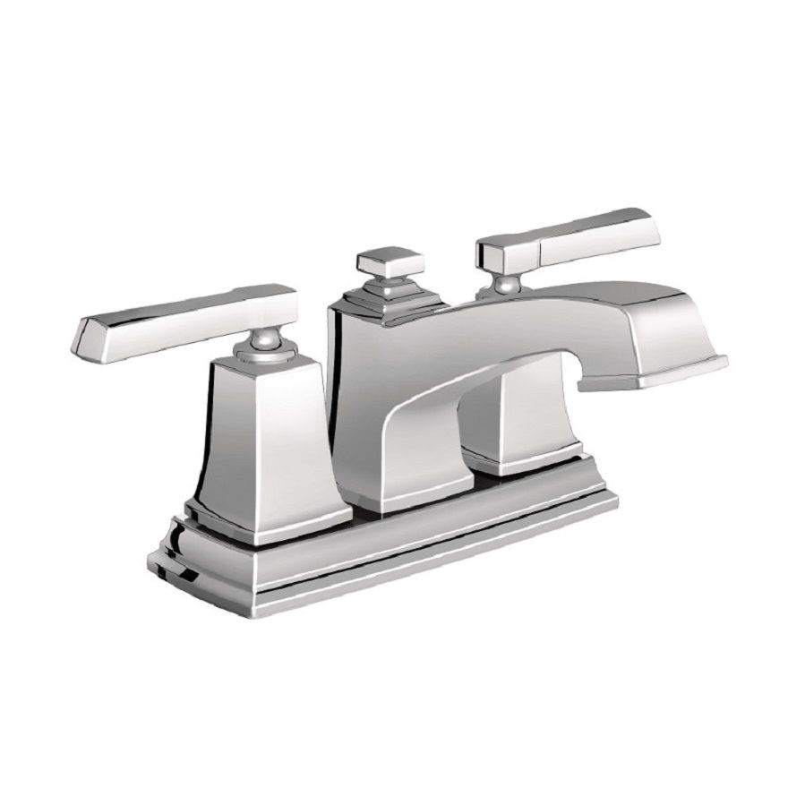 Moen boardwalk 2 handle bathroom faucet in chrome finish - Kitchen sink faucets home depot ...