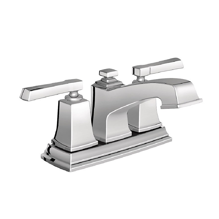 Admirable Boardwalk 4 Inch Centerset 2 Handle Low Arc Bathroom Faucet With Lever Handles In Chrome Download Free Architecture Designs Grimeyleaguecom