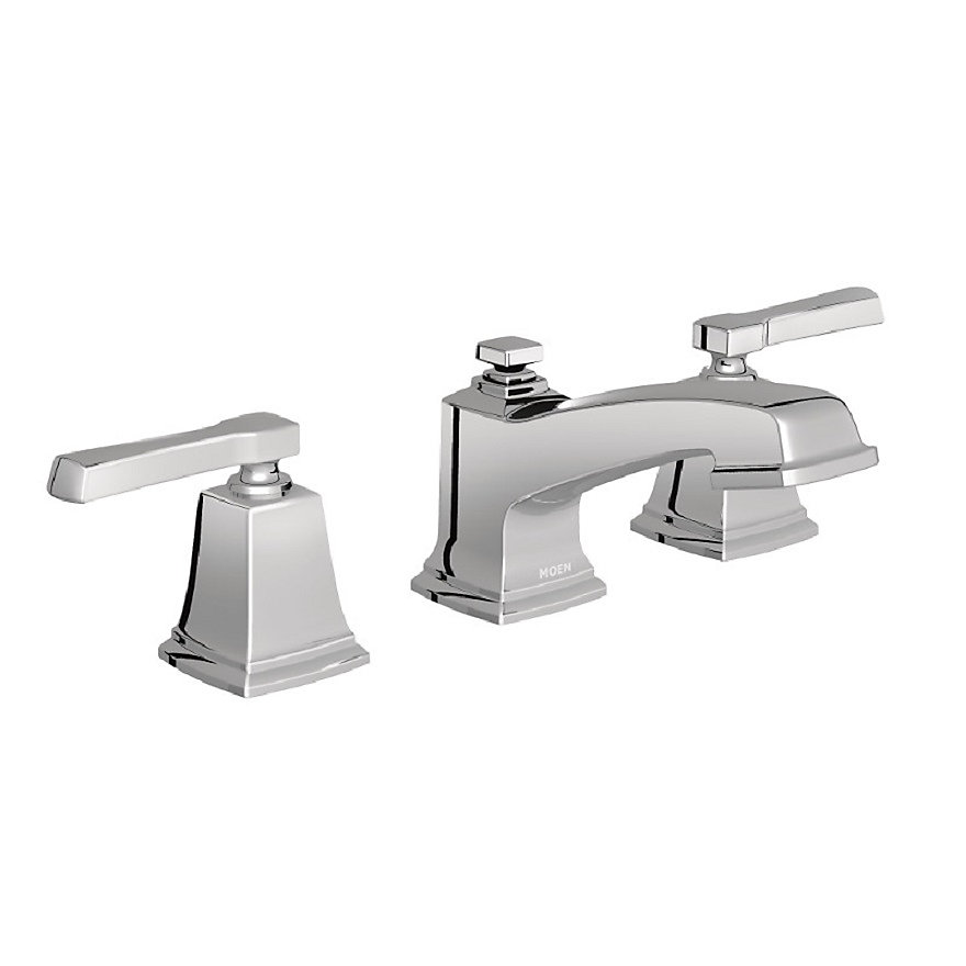 Excellent Boardwalk Two Handle Low Arc Bathroom Faucet In Chrome Interior Design Ideas Inesswwsoteloinfo