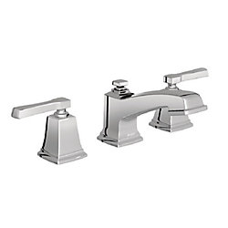 Boardwalk Two-Handle Low-Arc Bathroom Faucet In Chrome
