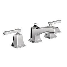 Robinet de salle de bains Boardwalk, arc court, 2poignées, chrome
