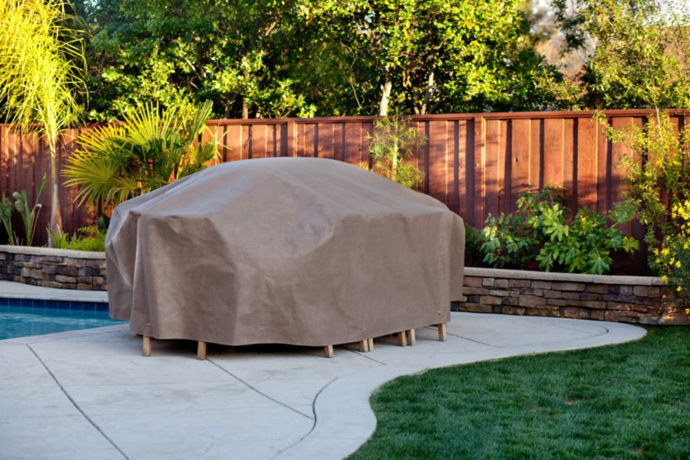 Duck Covers Duck Dome 127-inch Oval Patio Set Cover