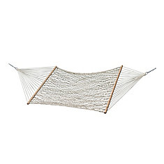 Cotton Rope Double Hammock in Natural