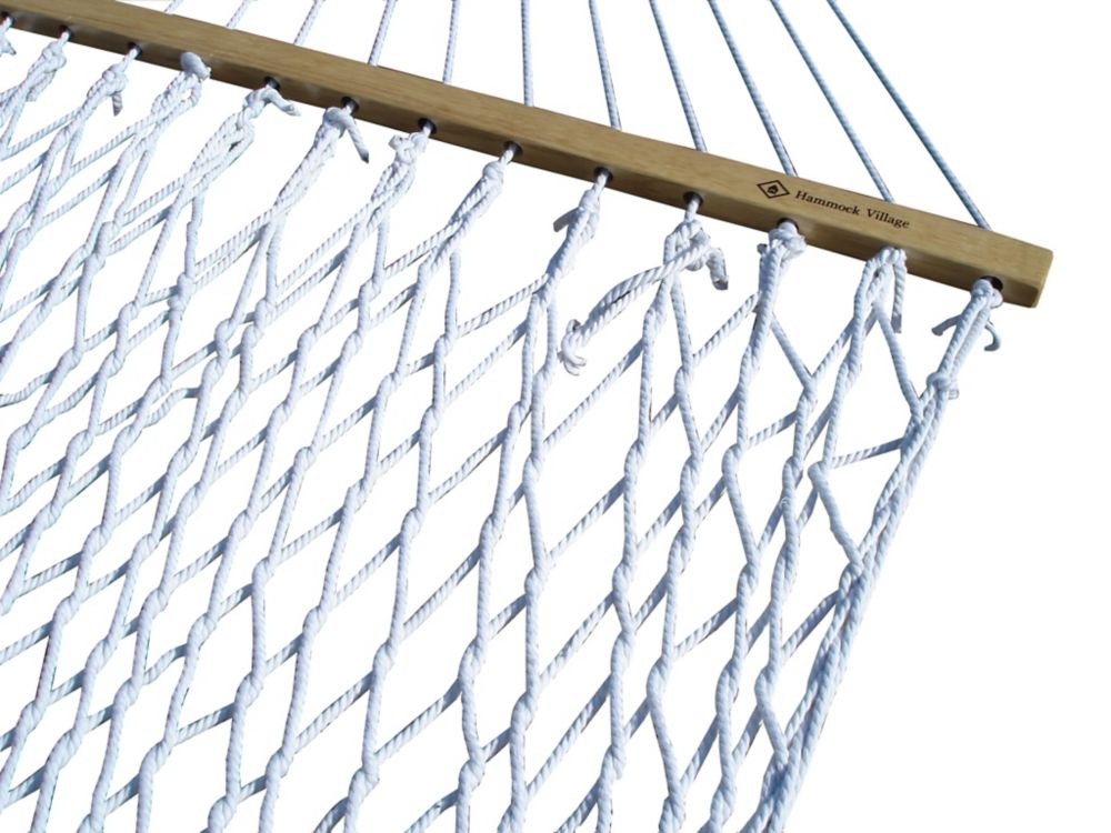 Vivere 60-inch Polyester Rope Double Hammock in White