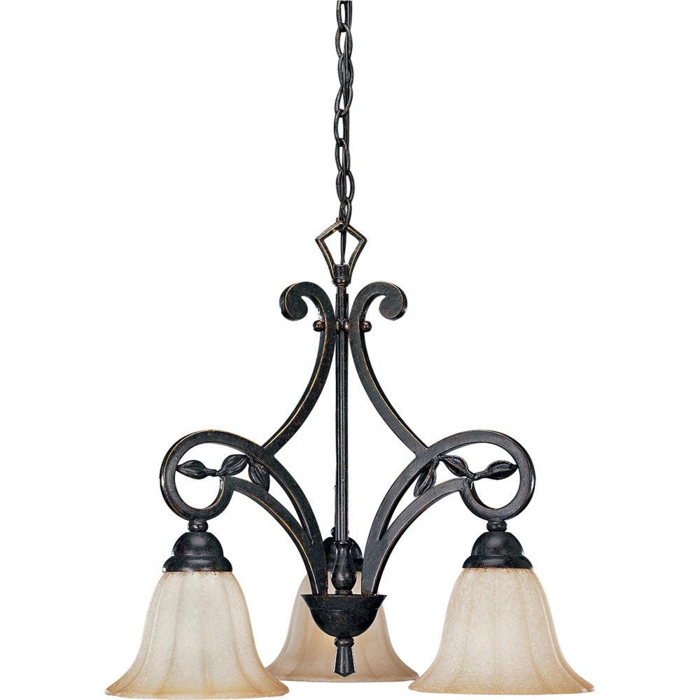 Le Jardin Collection Espresso 3-light Chandelier