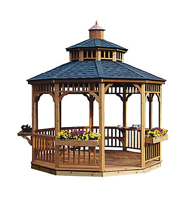 Handy Home Products San Marino 10 ft. Round Gazebo | The Home ...