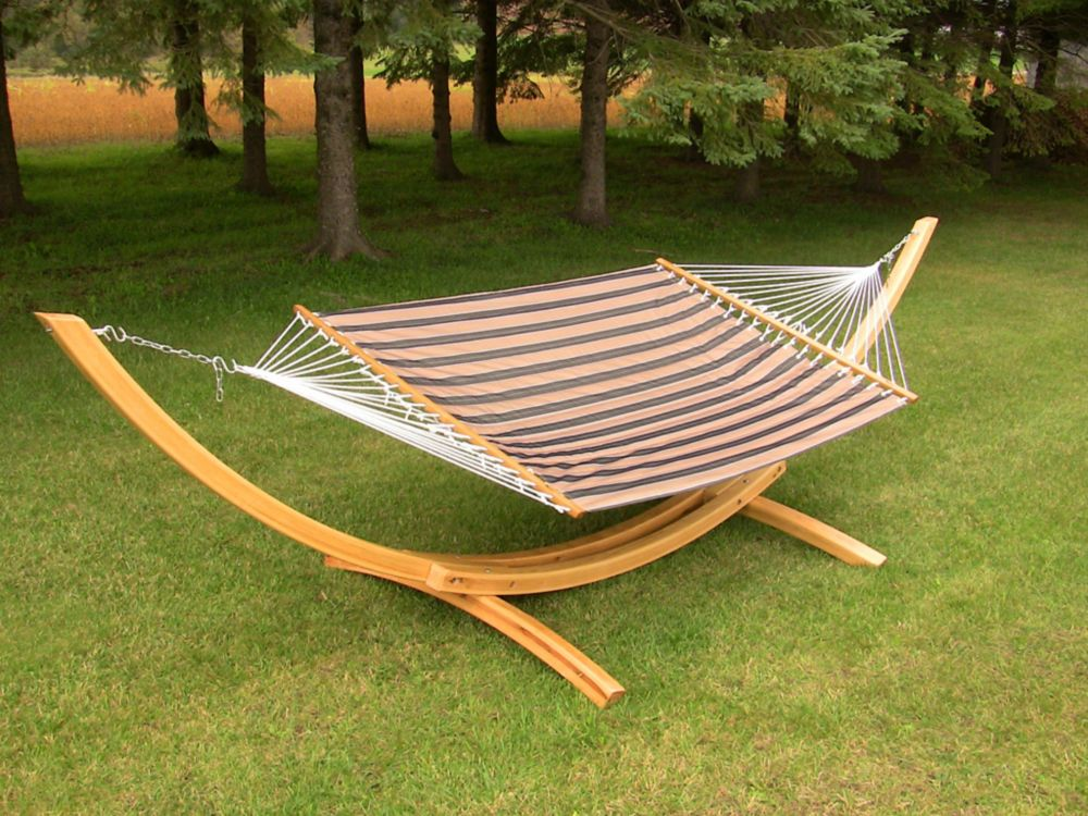 Corliving Wood Canyon Patio Swing In Cinnamon Brown The Vooex Canada