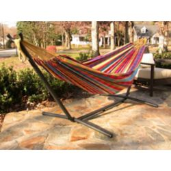Vivere 8 ft. Combo Steel Stand with Double Hammock