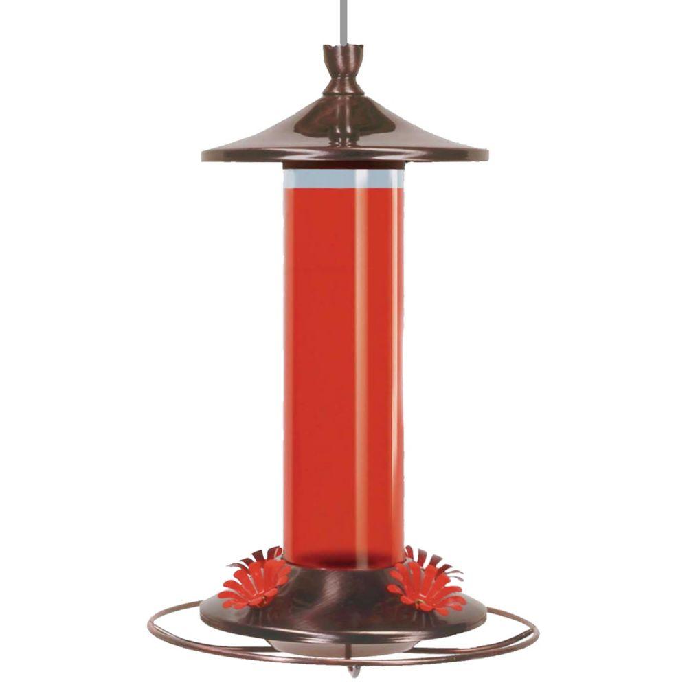 Perky-Pet 12 oz Elegant Copper Glass Hummingbird Feeder