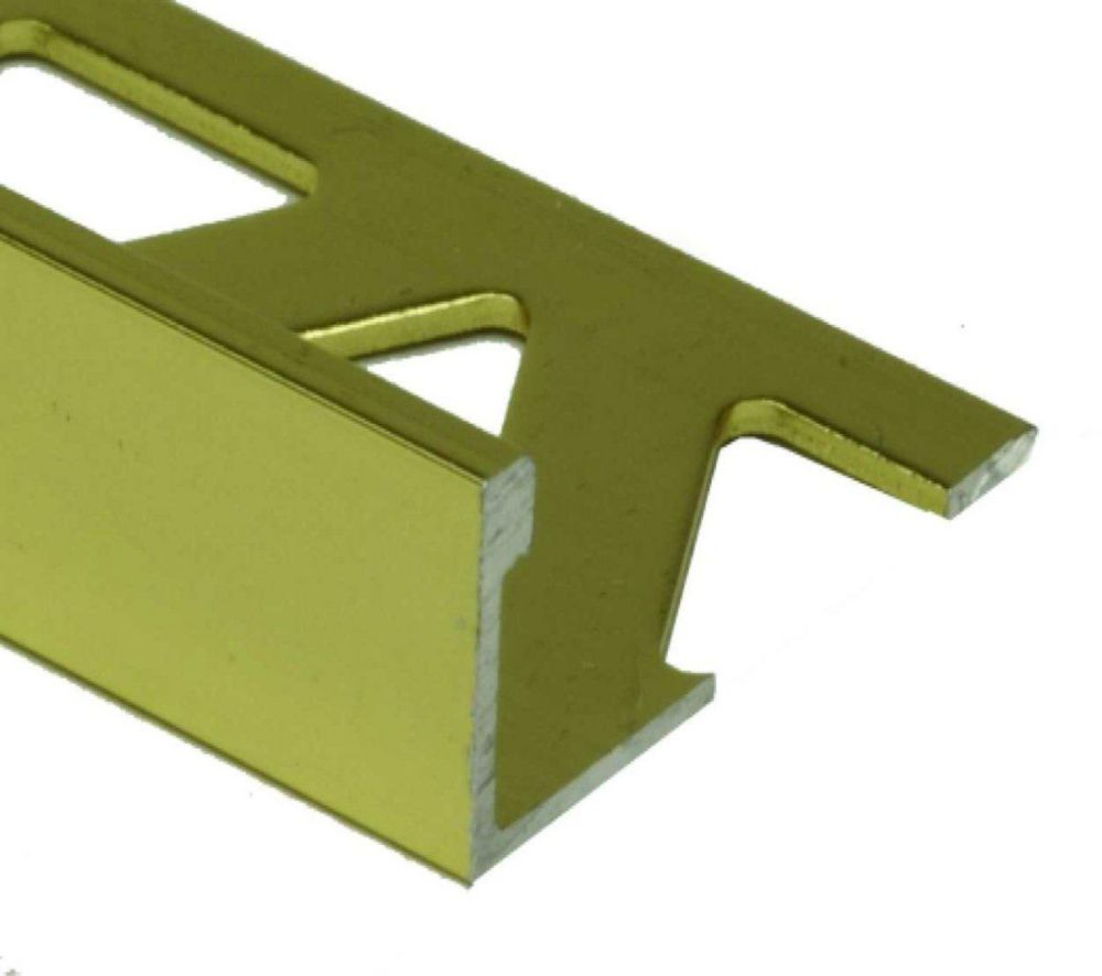 Aluminum Tile Edge 1/2 Inch(12MM) - 8 Foot - Satin Gold - Pack of 10