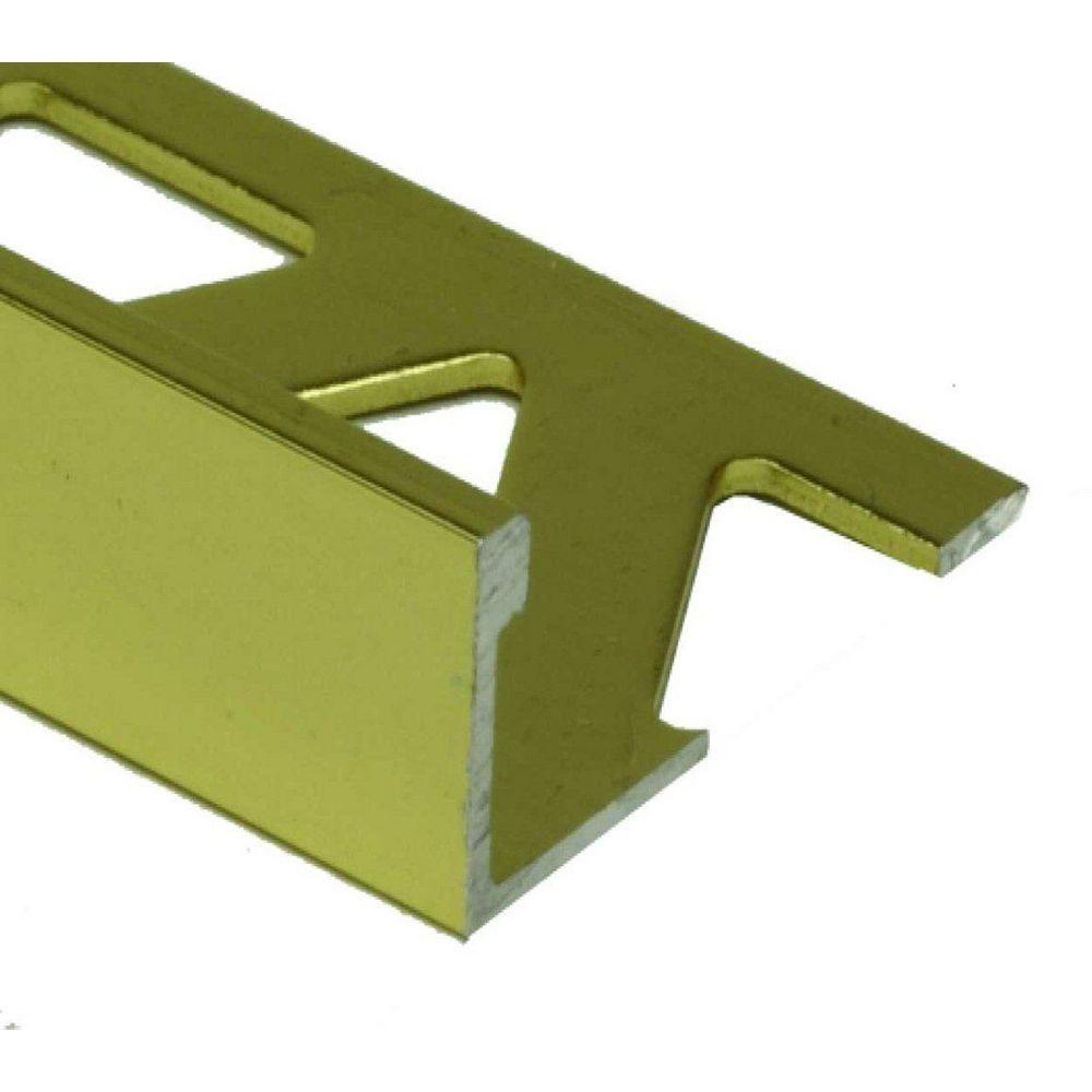 PROVA 1/2 inch (12Mm) Tile Edge - 8Ft -Satin Gold - 10 Pcs.