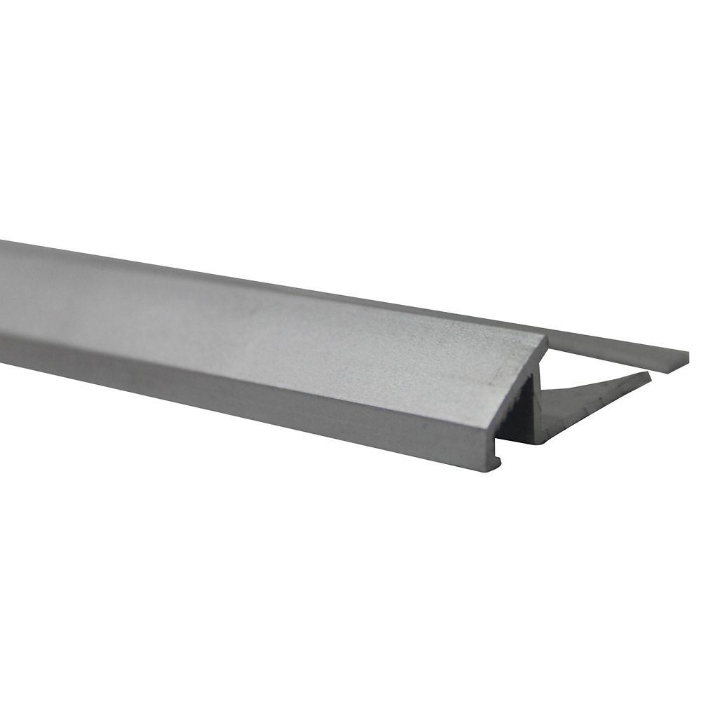 Réducteurs En Aluminium Pour Carreaux 5/16 Pouce(8MM) - 8 Pied - Satin Clair Anodizé - Paquet de ...
