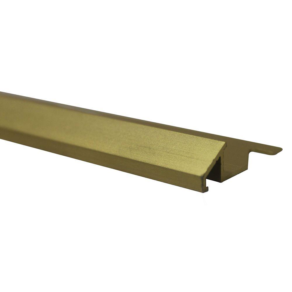 Réducteurs En Aluminium Pour Carreaux 5/16 Pouce(8MM) - 8 Pied - Or Satiné Anodisé - Paquet de 10