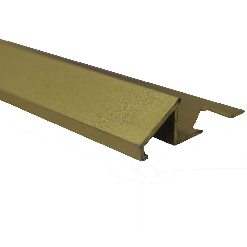Shur Trim Aluminum Tile Reducer 3/8 Inch(10MM) - 8 Foot - Satin Gold - Pack of 10