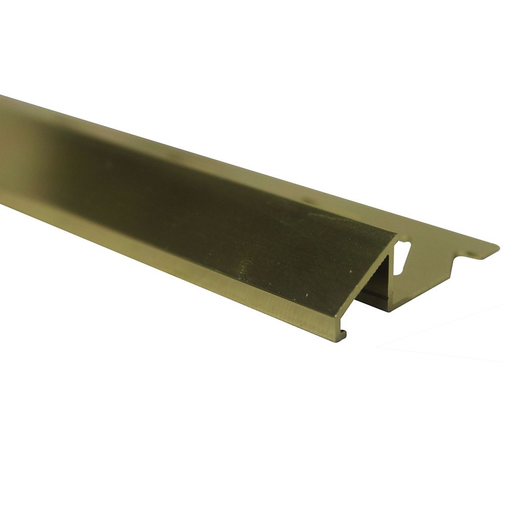 Aluminum Tile Reducer 3/8 Inch(10MM) - 8 Foot - Bright Brass - Pack of 10