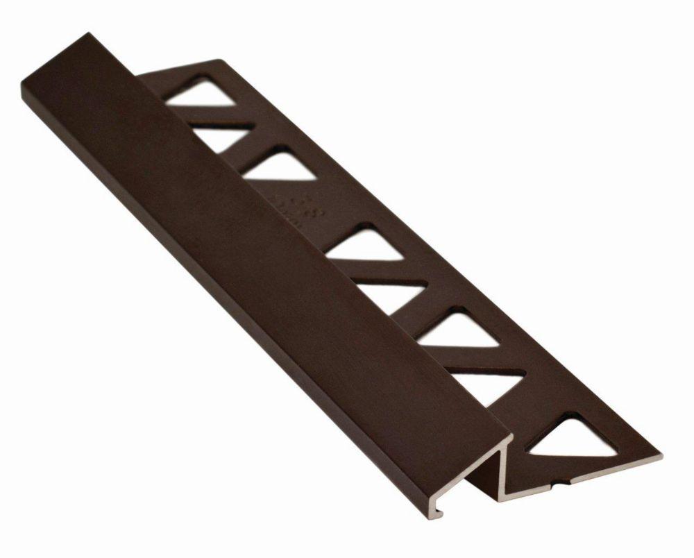 Aluminum Tile Reducer 3/8 Inch(10MM) - 8 Foot - Satin Antique Bronze - Pack of 10