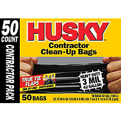HUSKY Contractor Clean-Up Bag (50-Pack)