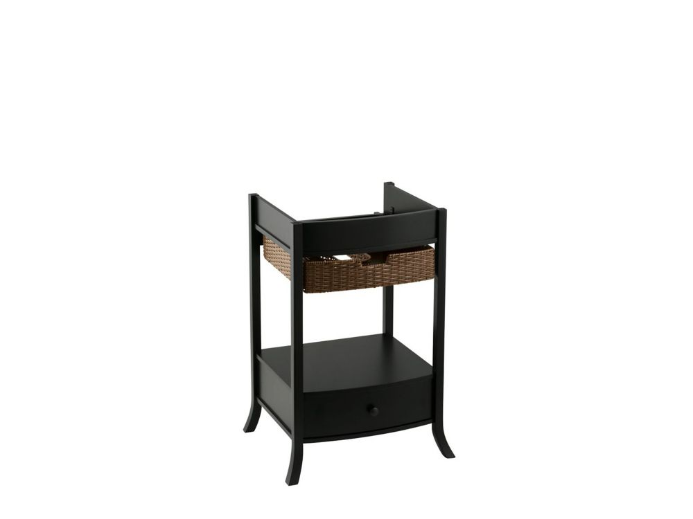 Archer Petite 24-Inch  W by 20-Inch  D Vanity Cabinet in Black Forest