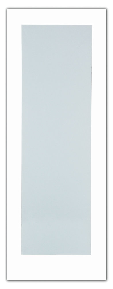 24-inch x 80-inch Primed 1-Lite French Door with White Laminated Tempered Glass