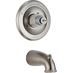 Leland 1-Handle Pressure-Balanced Tub Filler Trim Kit in Stainless-Steel (Valve and Handles Not Included)
