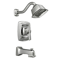 Boardwalk 1-Spray Tub and Shower Faucet in Chrome