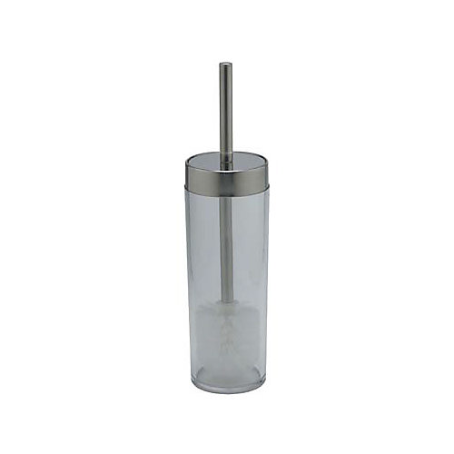 Philip Toilet Brush With Holder Clear/Polished Chrome