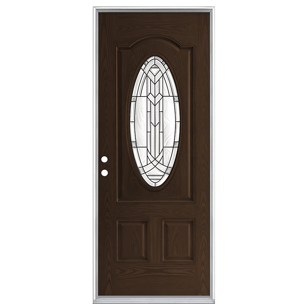 32-inch x 4 9/16-inch Chatham Chestnut 3/4 Oval Left Hand Door