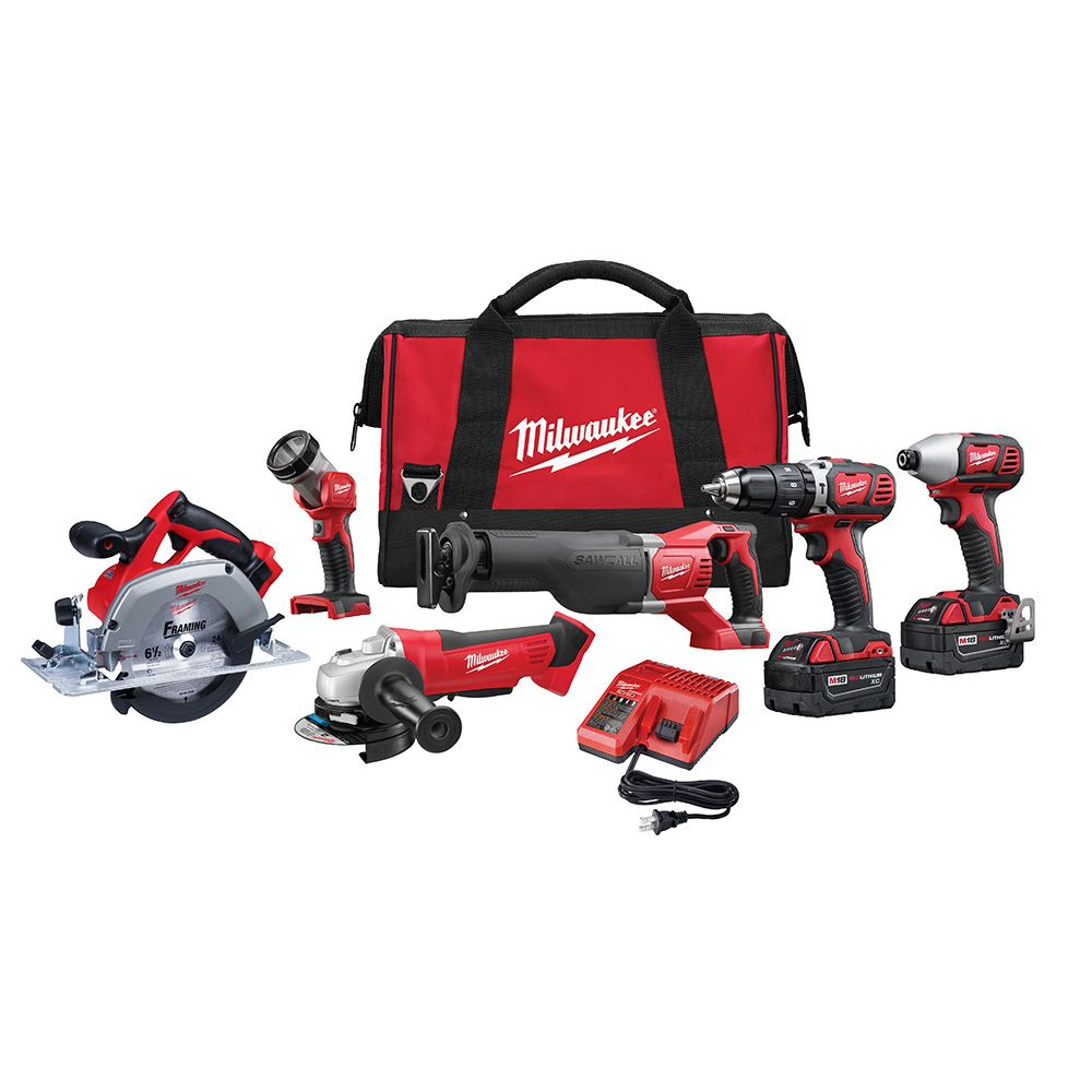 M18 Cordless Lithium-ion Six-Piece Combo Kit