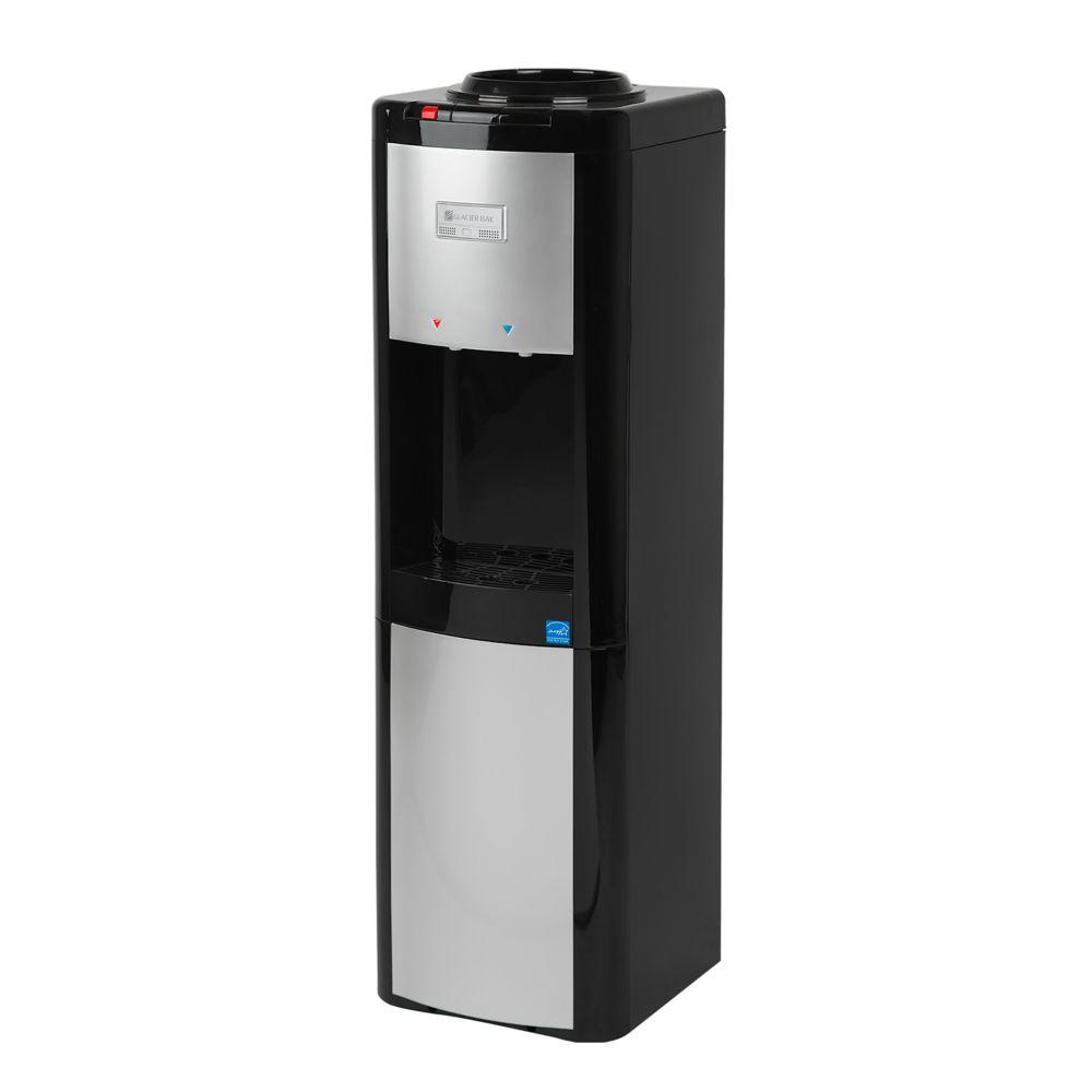 GLACIER BAY Top Load Water Dispenser (Hot and Cold) in Black/Platinum