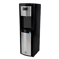 GLACIER BAY Bottom Load Water Dispenser (Hot, Room and Cold) in Black/Stainless Steel