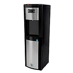 Bottom Load Water Dispenser (Hot, Room and Cold) in Black/Stainless Steel