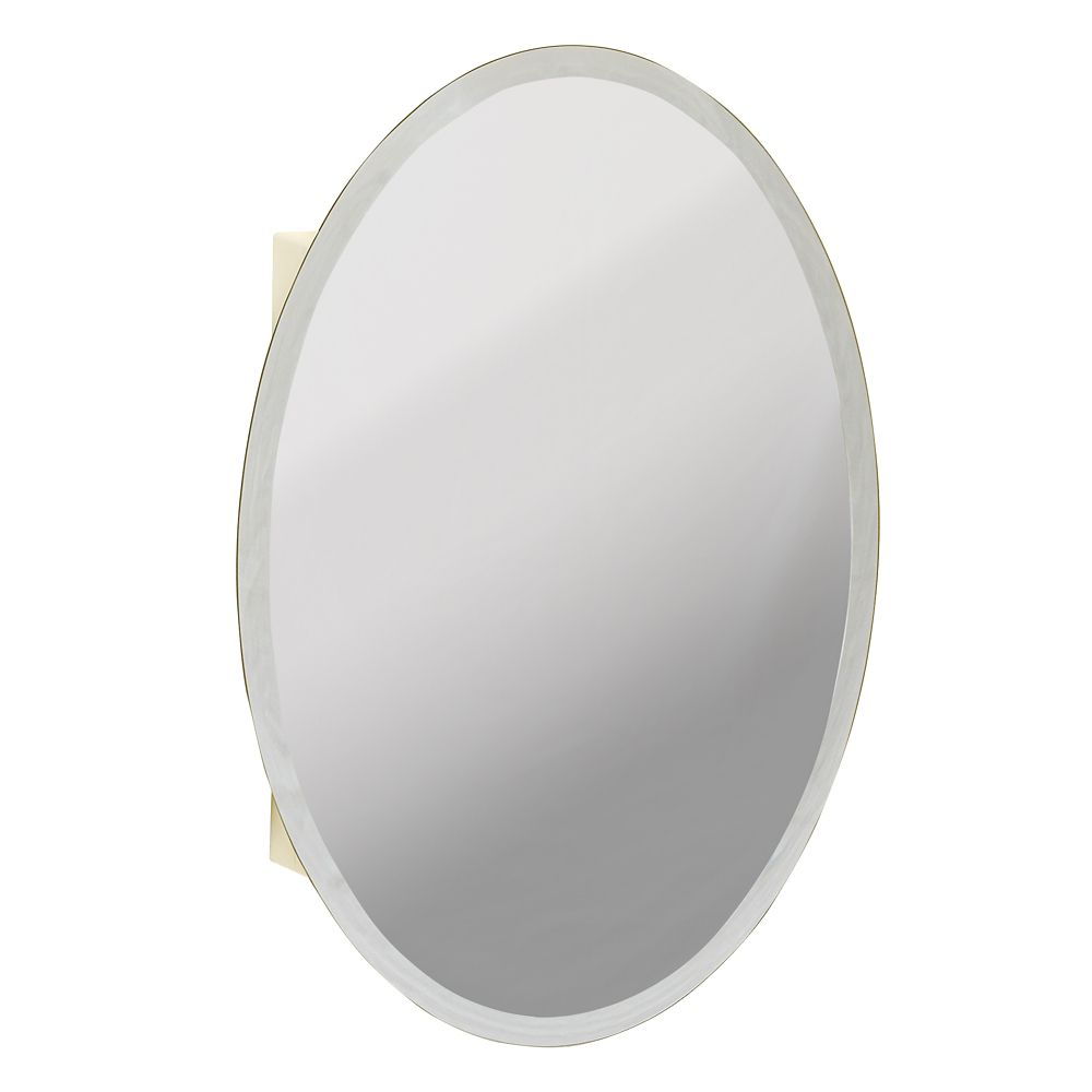 Zenith Products Oval Beveled Mirror Medicine Cabinet The