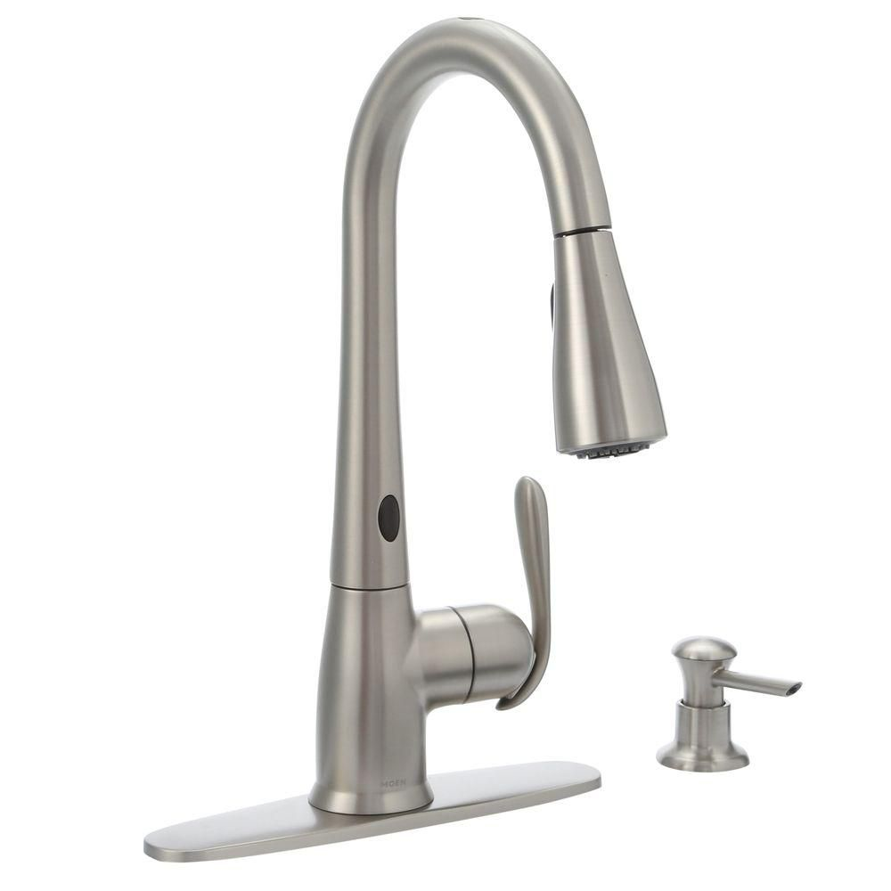 moen haysfield motionsense 1 handle pulldown kitchen