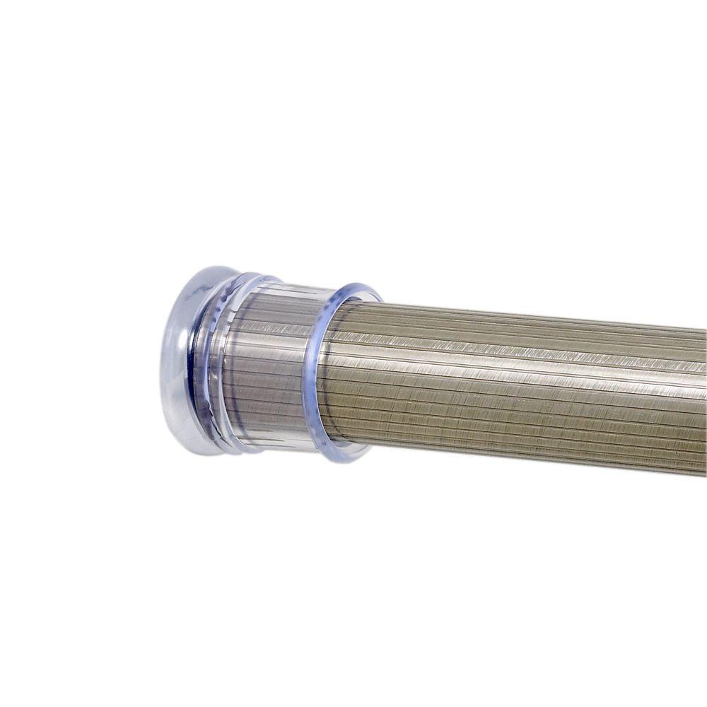 Beveled 72 Inch Brushed Nickel Tension Rod