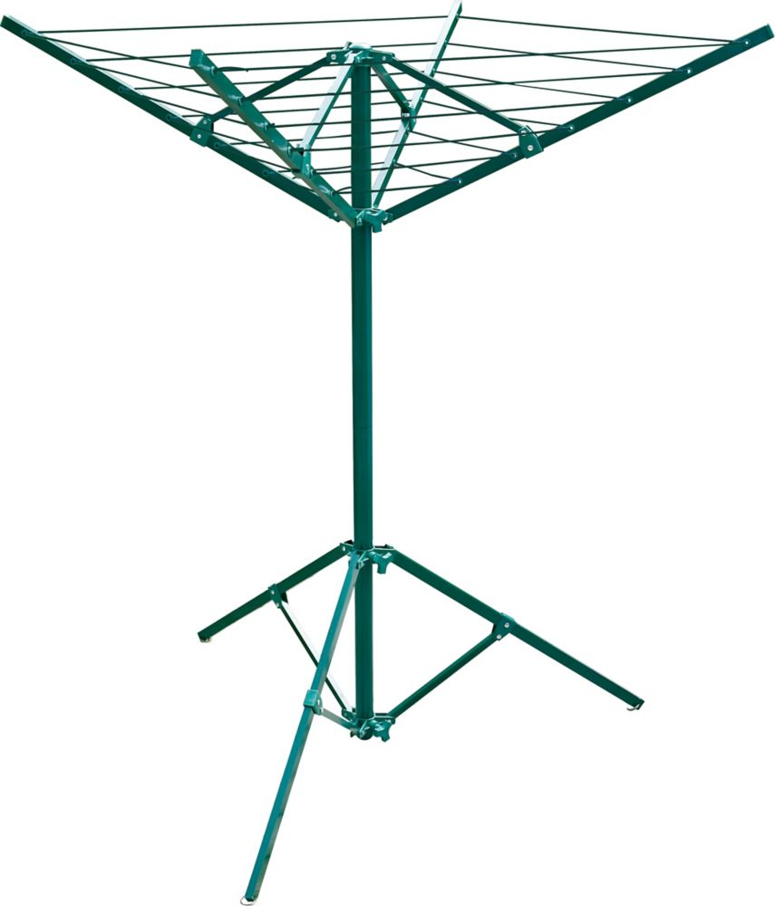 Greenway portable outdoor clothes dryer, 51 feet of drying space, green powder coated steel