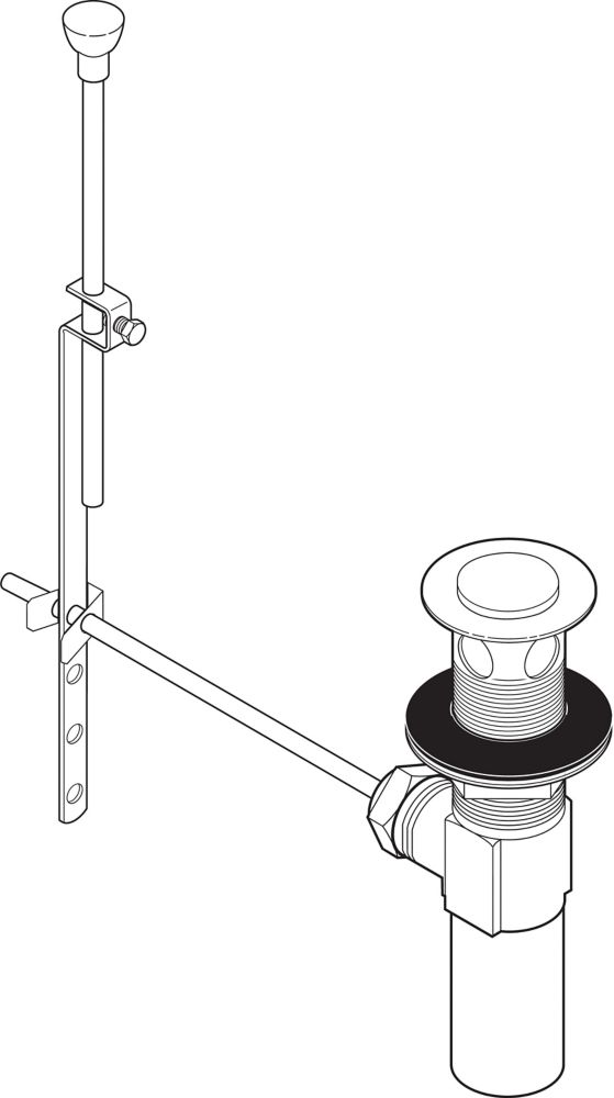 Lavatory Drain Assembly with Lift Rod in Venetian Bronze
