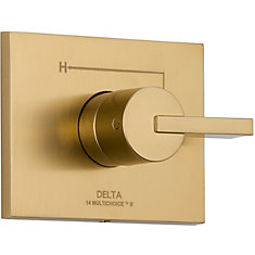 Vero 1-Handle Valve Trim Kit in Champagne Bronze (Valve Not Included)