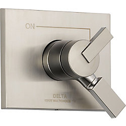 Vero 1-Handle Diverter ValveTrim Kit in Stainless (Valve Not Included)