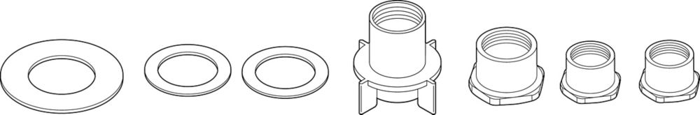 Thick Deck Mounting Kit for Kitchen Faucets