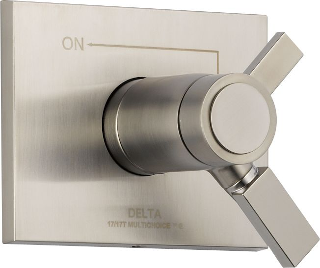 Vero 1-Handle Thermostatic Diverter Valve Trim Kit in Stainless (Valve Not Included)