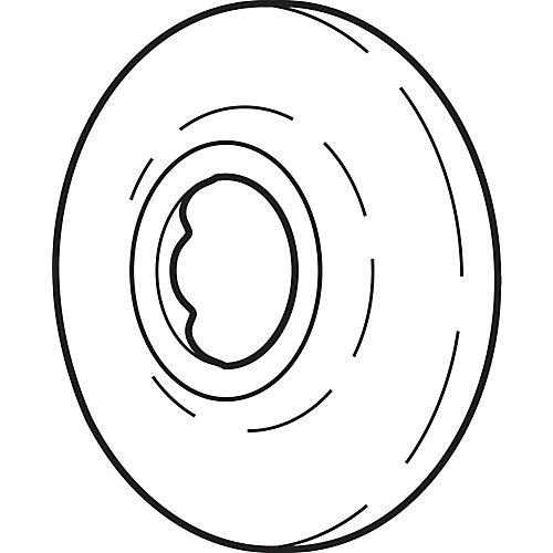 Standard 2-1/2 Inch Diameter Shower Arm Flange in Pearl Nickel
