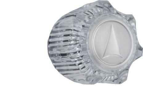 Manette ronde transparente pour robinets de cuvette et de bidet, Chrome